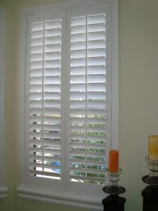 white plantation shutters displayed in our gallery